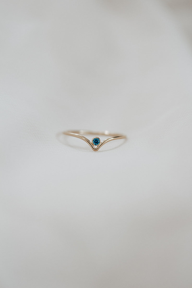 Minimalist December Birthstone Ring