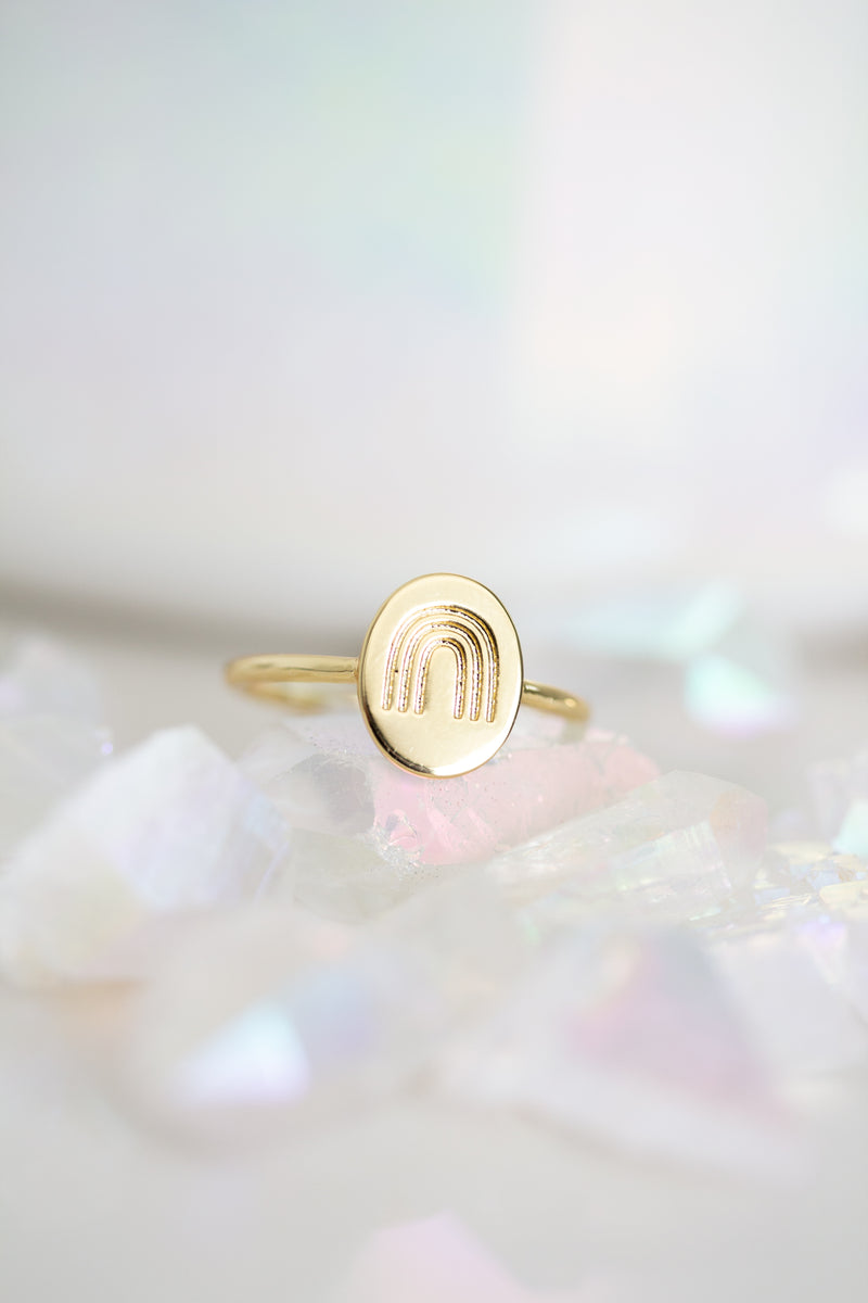 Rainbow Connection Oval Ring