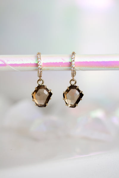 Amaya Raindrop Huggie Earrings - Choose from 3 colors