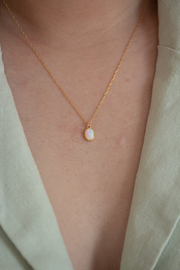 Minimalist Opal Necklace