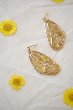 Metamorphosis Butterfly Pressed Flower Earrings