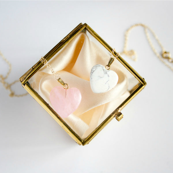LIMITED EDITION || Rose Quartz Heart Necklace - BORCIK