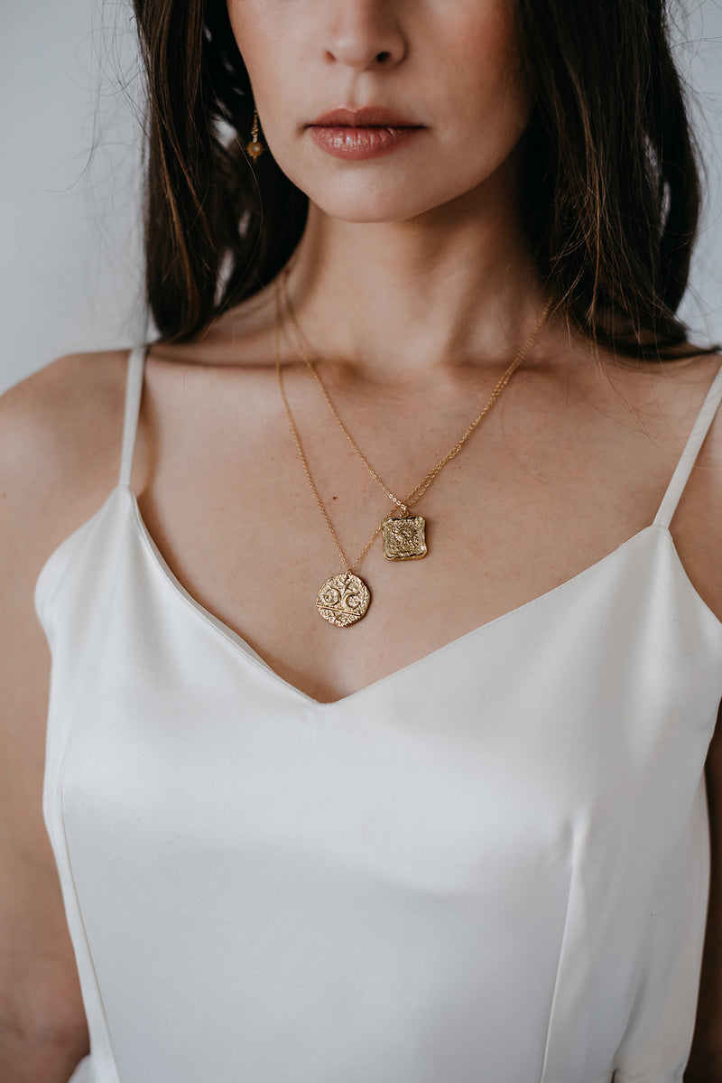 Enchanted Gold Medallion Necklace