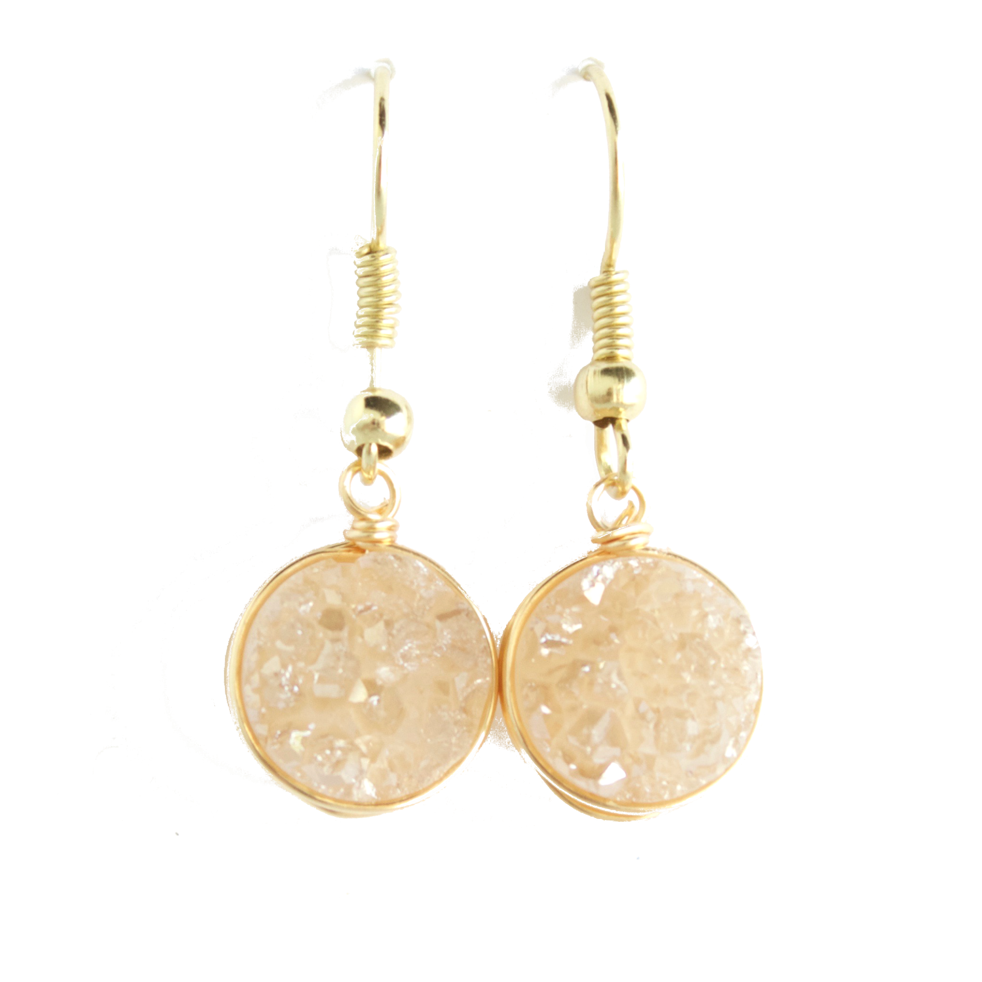 Champagne Druzy Drop Earrings
