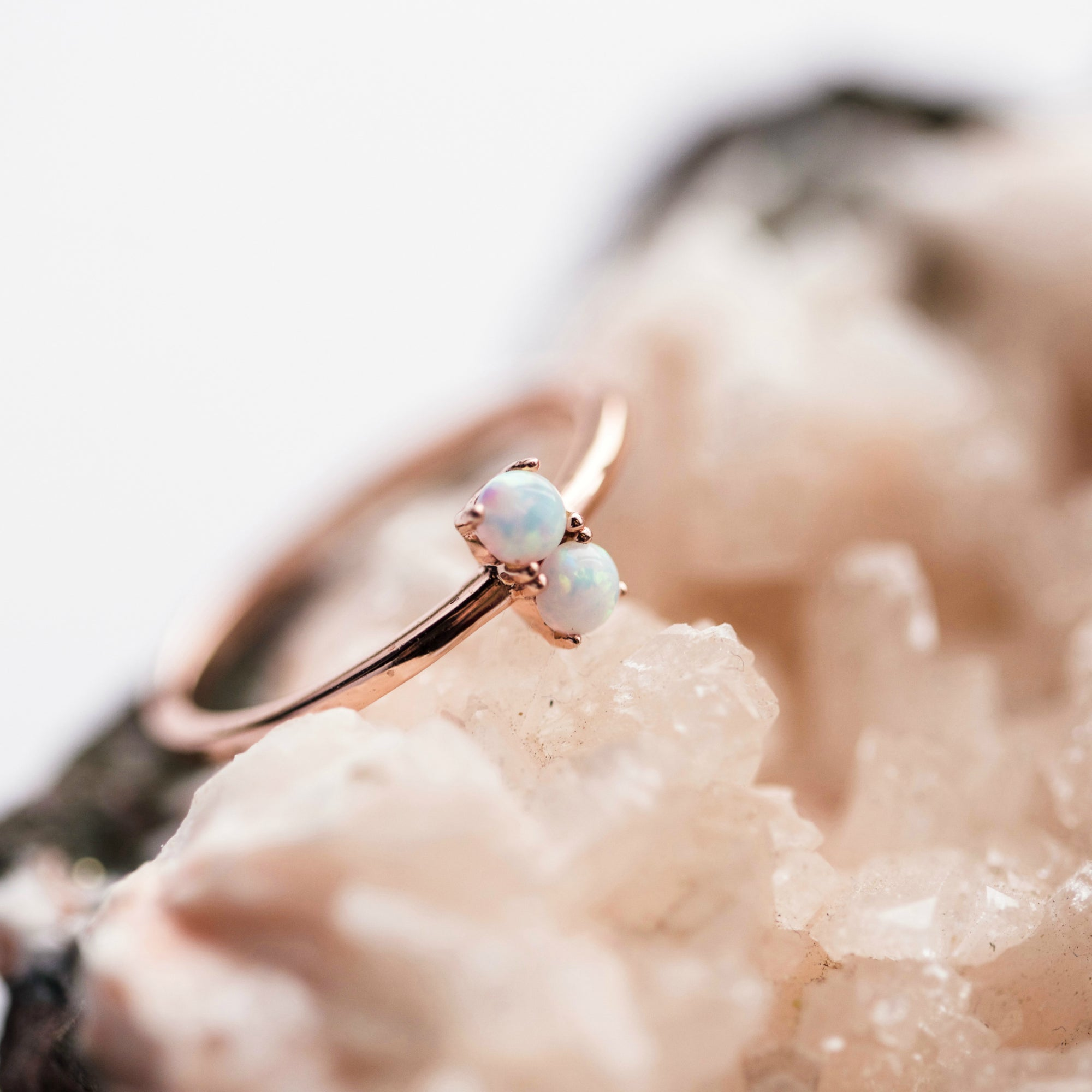 The Selena Ring || Double Opal - BORCIK