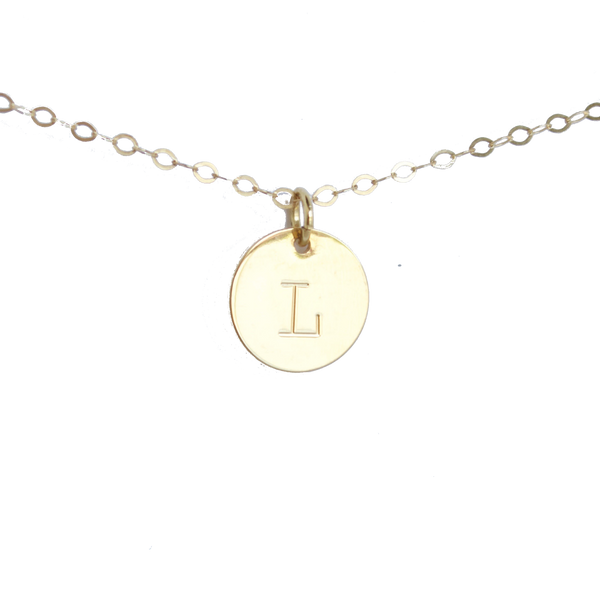 Initial Disc Necklace - BORCIK