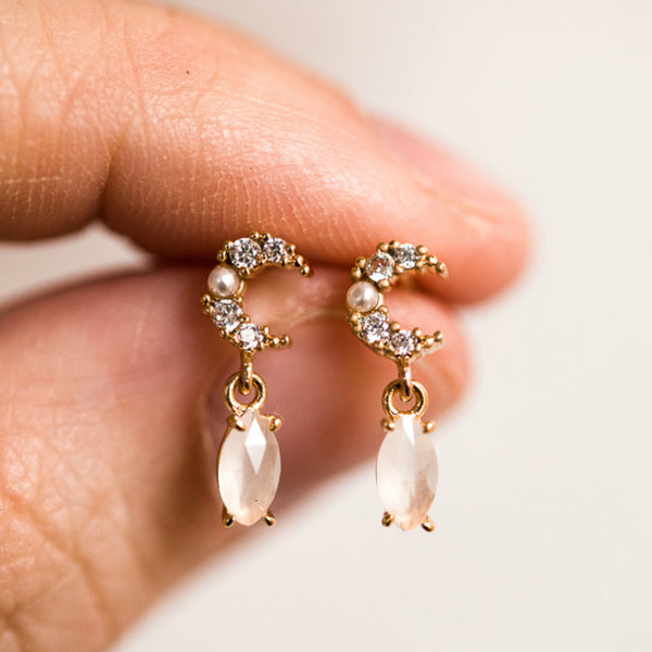 Luxe Luna Earrings - BORCIK