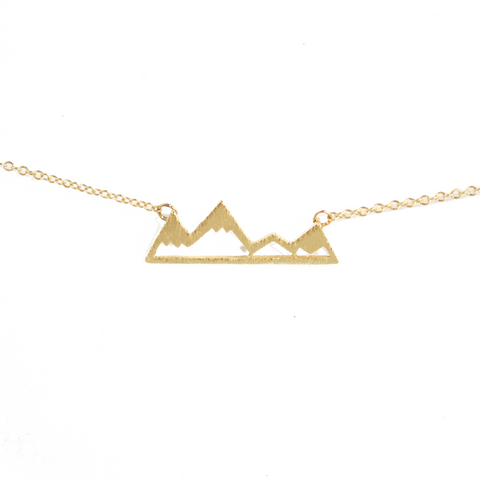 Gold Mountain Necklace - BORCIK