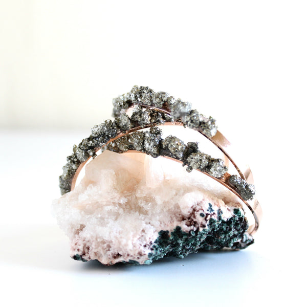 Crushed Pyrite Rose Gold Cuff
