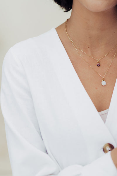 June Birthstone Necklace | Moonstone