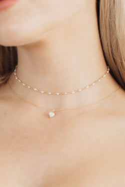 Single Pearl Minimalist Bridal Necklace