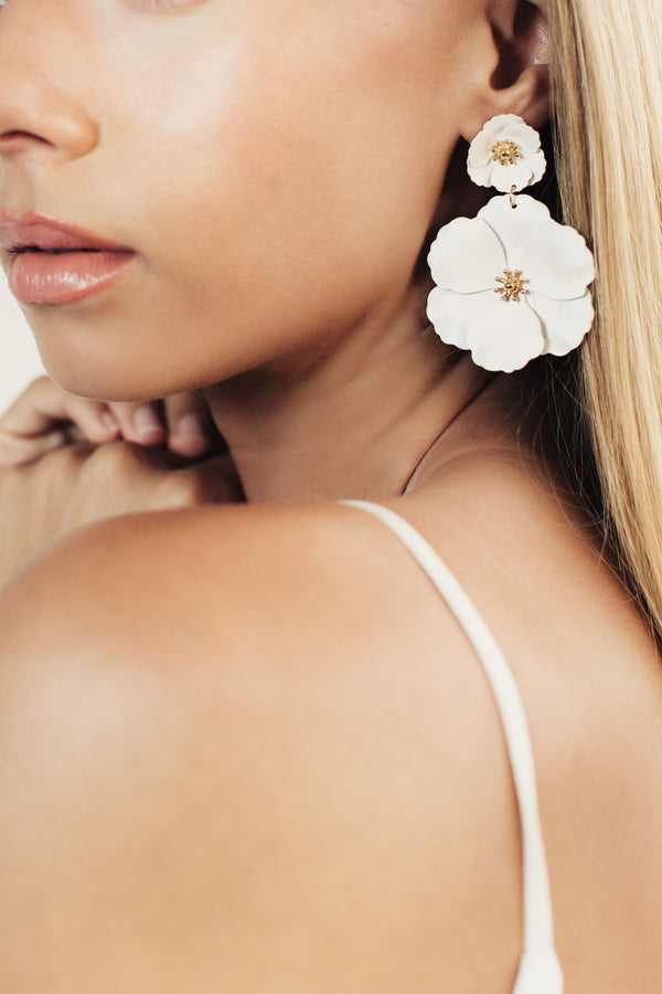 Hana Floral Statement Bridal Earrings