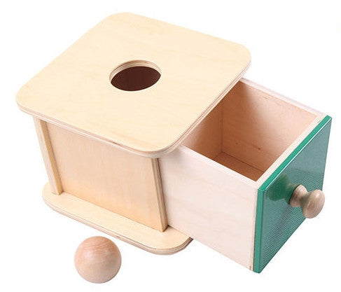 Montessori Wooden Ball Return Box