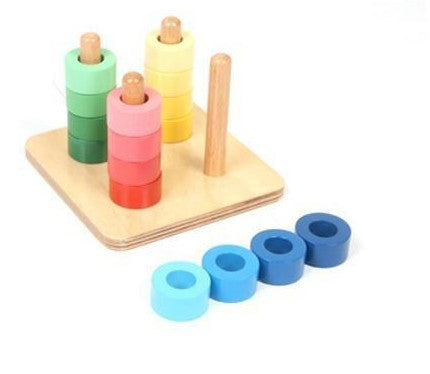 Montessori Kids Toy Baby Wood Rainbow Socket Learning Educational Preschool Training Brinquedos Juguets