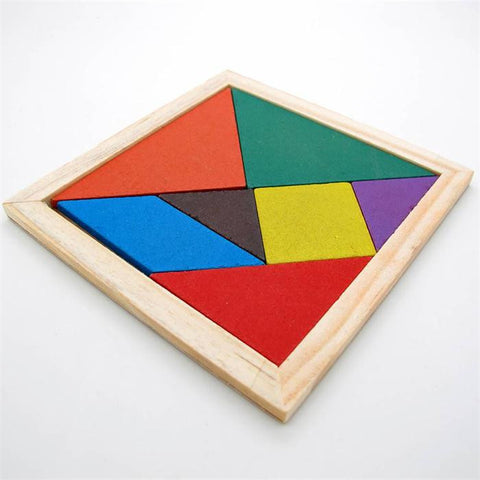 2016 New Hot Sale Children Mental Development Tangram Wooden Jigsaw Puzzle Educational Toys for Kids