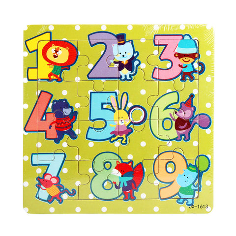 Best seller hot selling Wooden Kids 16 Piece Jigsaw Toys For Children Education And Learning Puzzles Toys Mar2