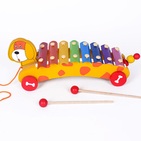 Wooden animal 8 Tone xylophone baby piano music toys percussion instruments music instruments for kids