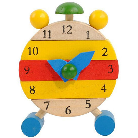 New Hot Hand Made Wooden Clock Toys for Kids Learn Time Clock Educational Toys wholesale