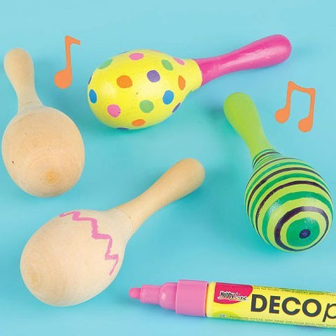 4PCS/LOT.Paint your own maracas,New baby gift,Baby rattle,Unfinished wood toy,kids toys,educational toys,4x16cm,Free shipping