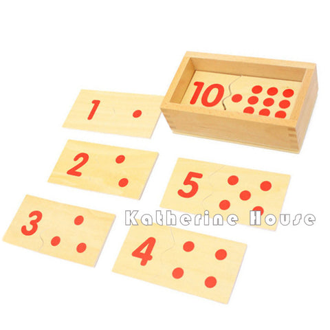 Hot Sale Baby Math Toys Montessori Material Number Puzzle 1-10 Wooden Math Toys Beech Wood Early Educational Birthday Math Gift