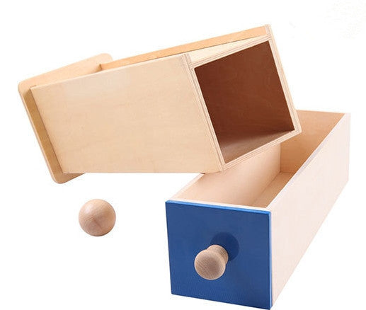 Montessori Wood Ball Rectangular Drawer