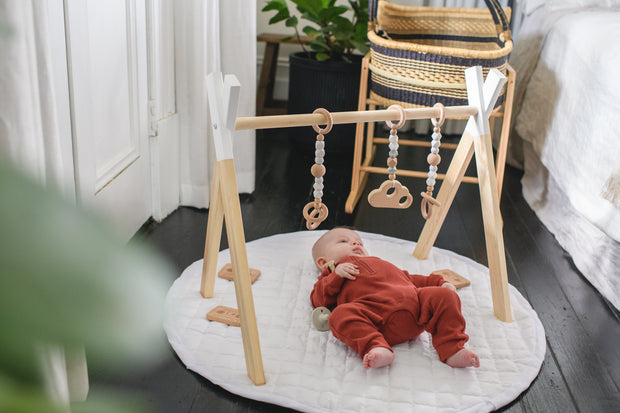 LUXE BEECHWOOD PLAY GYM + ACCESSORIES BUNDLE