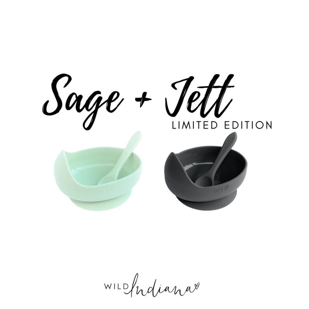 SOLD OUT - LIMITED EDITION SILICONE BOWL SAGE + JETT