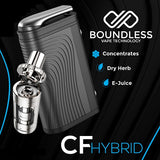 Boundless CF Hybrid Dry Herb/eLiquid/Wax/Thick Oil Vaporizer