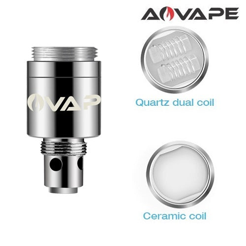 AOVape Como Wax Pen Replacement Coils - Ceramic/Dual Quartz