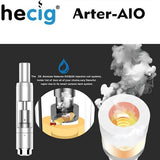 Hecig Arter AIO Hybrid Wax, Dry Herb, Thick Oil, and eLiquid Mini Mod Kit