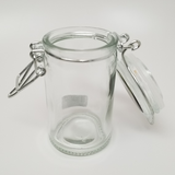 Glass Stash Jar Assorted Design Top