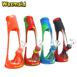 Waxmaid The Horn Glass and Silicone Water Bubbler