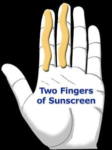 2 Finger Sunscreen