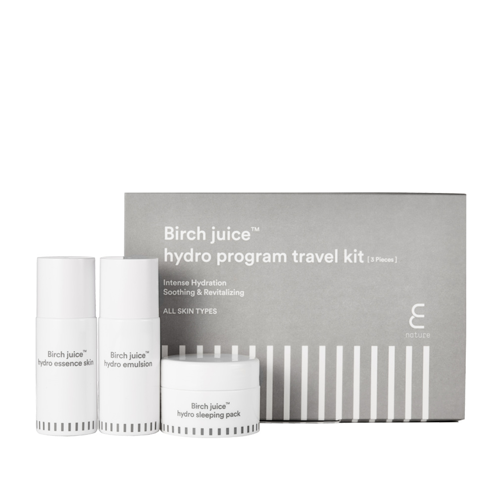 Enature Birch Juice Hydro Program Travel Kit
