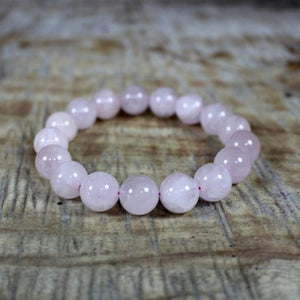 Open image in slideshow, ROSE QUARTZ BRACELET 12MM