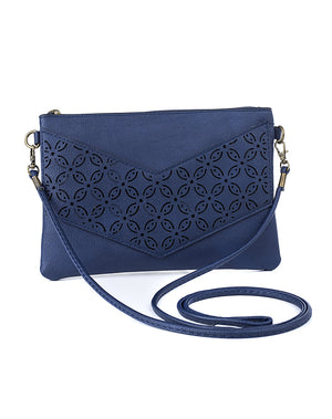 Open image in slideshow, Sling Bags - Blue Horizontal