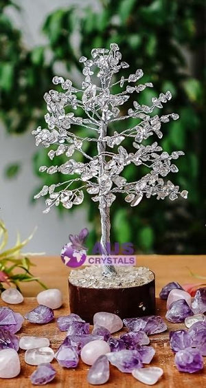 Open image in slideshow, Clear Quartz Tree - Medium -Silver branches