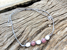 Load image into Gallery viewer, Moonstone & Strawberry Quartz Choker