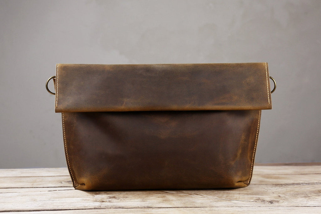 rustic leather crossbody bags