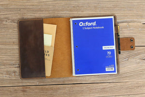 Oxford spiral notebook leather cover