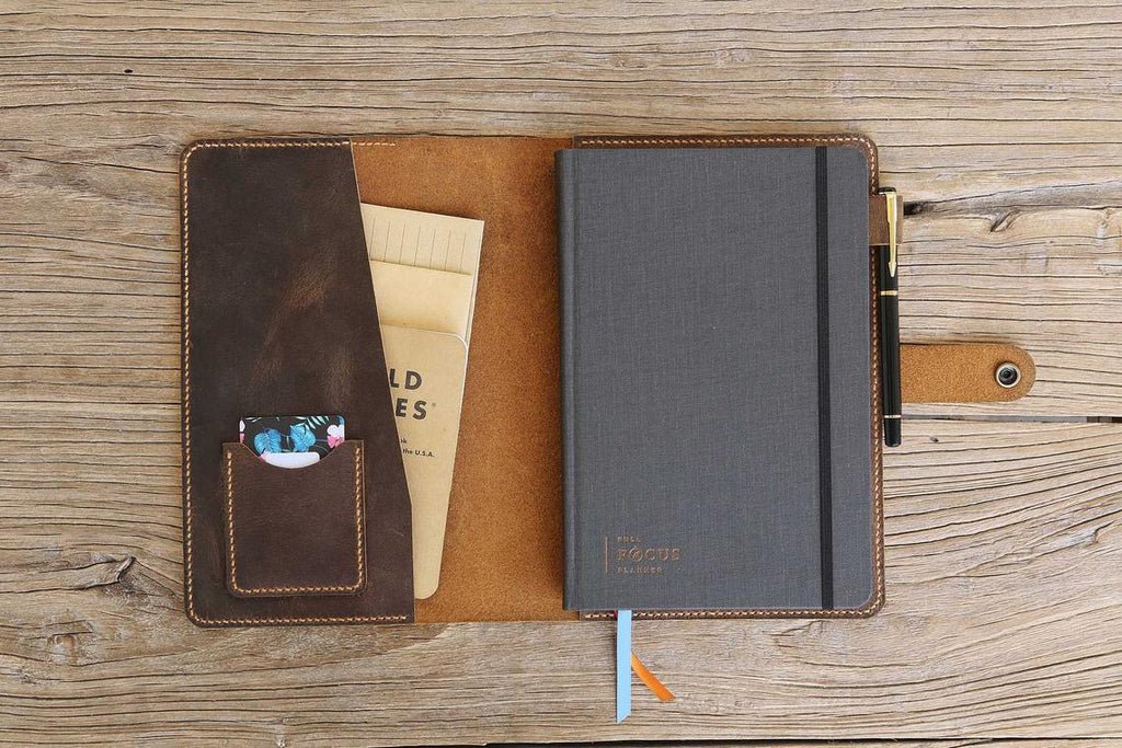 Full Focus planner leather cover portfolio