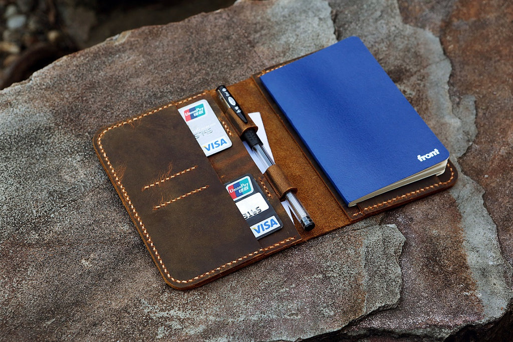 leather A6 travel journal