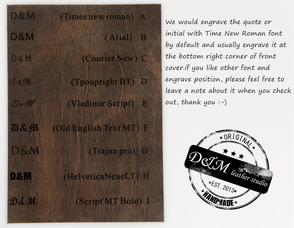 Personalized rustic leather men business card case organizer