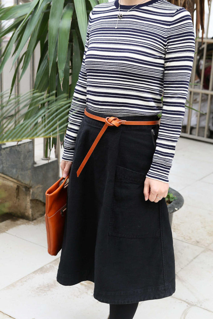 Black brown women belt for dresses coat