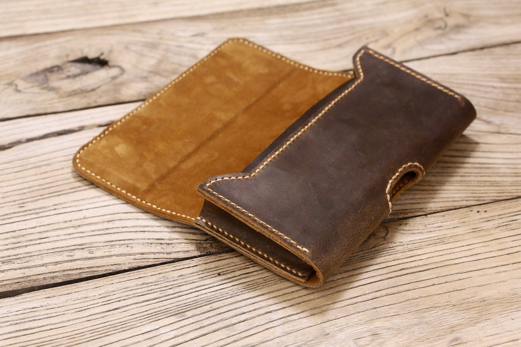 Personalized leather cell phone holster