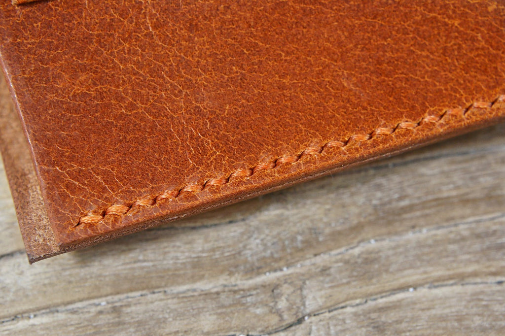Personalized custom vegetable tanned leather sunglass eyeglass case