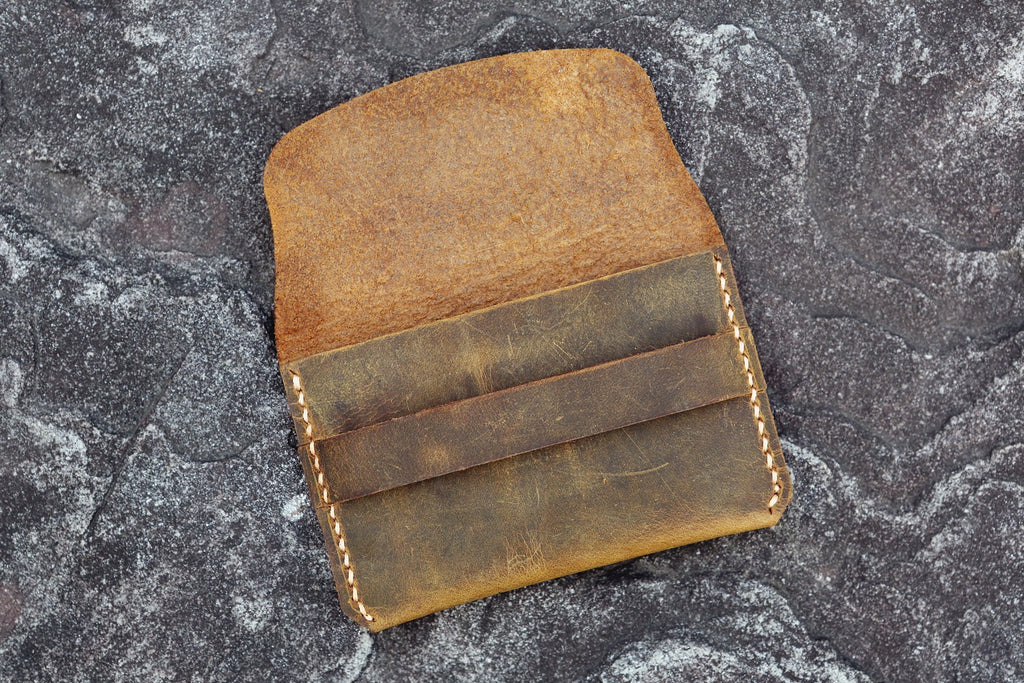 rustic men card holder