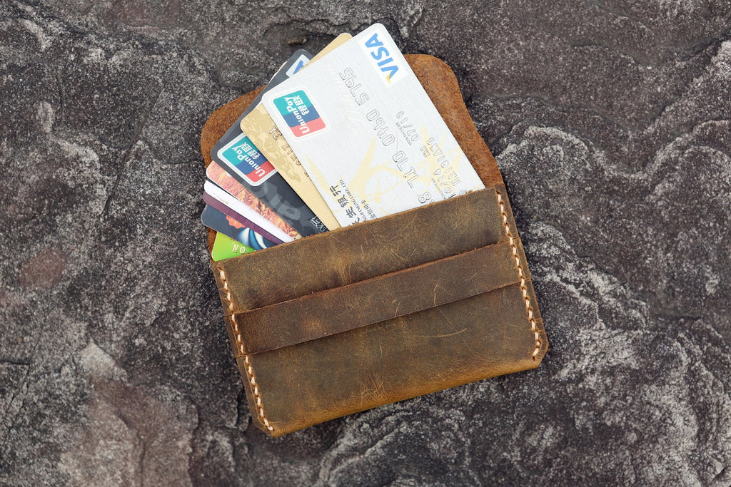 leather men card wallet