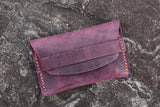 purple credit card holder