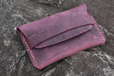 purple women card wallet